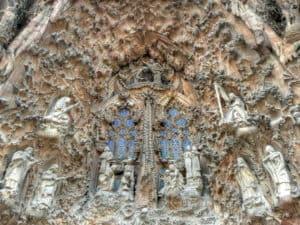 Portico de la Caridad en la Fachada del Nacimiento de la Sagrada Familia